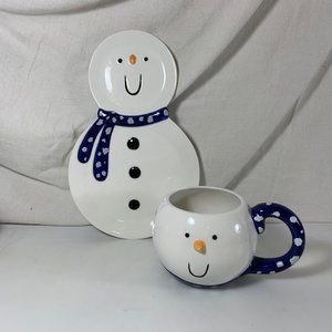Snowman Plate & Cup Christmas Department 56 Snack